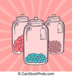 Candy jar Illustrations and Clipart. 294 Candy jar royalty ...