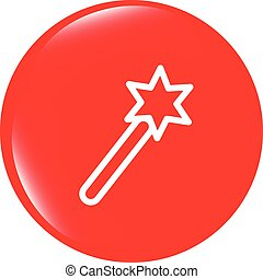 vector Icon magic wand, web button isolated on white