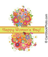 Greeting card for international Womans Day