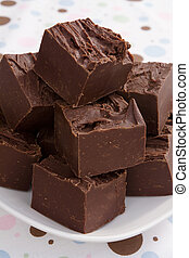 Rich Chocolate Fudge - A sweet serving of rich chocolate...