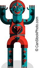 Graphic vector illustration, cubism - Graphic vector...