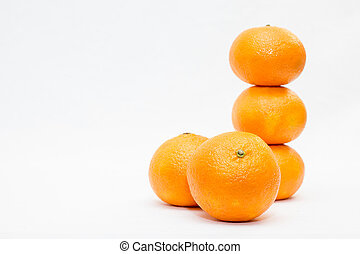 clementines  - group of clementines on a white background