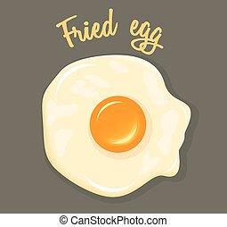 Vector Fried Egg breakfast illustration