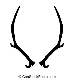 black silhouette of deer antlers