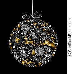 Merry christmas new year ornament