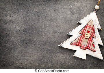 Christmas decoration on the grey background.