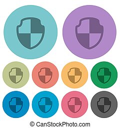Color shield flat icons