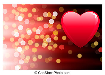 light background with heart