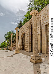 Shiraz north wall - Stone wall by the Quran Gate, a historic...