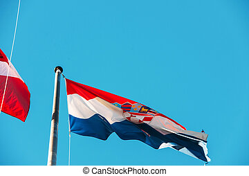 Flag of Croatia, the tricolour Trobojnica - Flag of Croatia,...