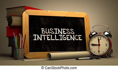 Business Intelligence Handwritten on Chalkboard Time Concept...