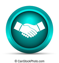 Agreement icon Internet button on white background