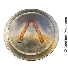 metal shield - image of an old metal shield used in the...