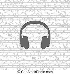 headphones icon seamless