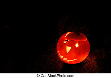 Halloween pumpkin - Lantern created with halloween pumpkin