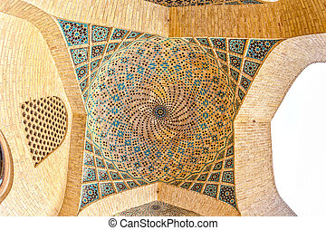 nasir, mezquita,  al-mulk, mosaico,  circular