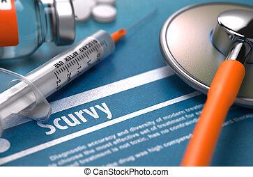 escorbuto, -, impreso, Diagnosis., médico, Concept.,