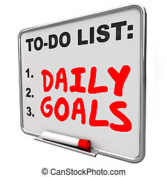 Daily Goals To Do List Message Board Priorities Tasks Jobs -...