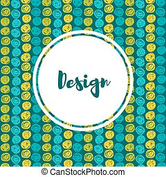 Vector hipster backgrounds in blues and greens Hand drawn...