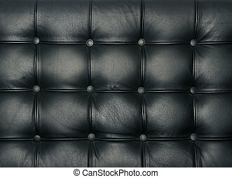 High quality studded leather texture - Luxury buttoned...