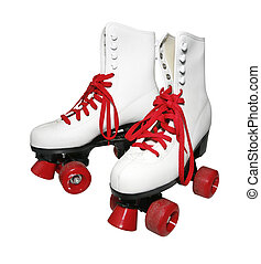 Retro rollerskates - White old fashioned rollerskates dating...