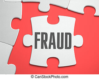 Fraud - Puzzle on the Place of Missing Pieces - Fraud - Text...
