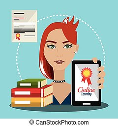 eLearning and education graphic design, vector illustration...