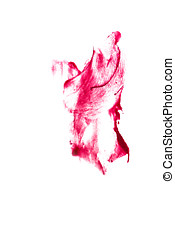 Abstract art of oil color Red - Abstract art oil paint...