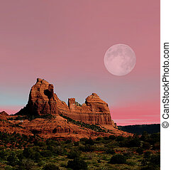 Moonrise Sedona Arizona - Moonrise Red Rock country...