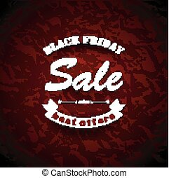 Black Friday Sale - vector illustration of Black Friday Sale