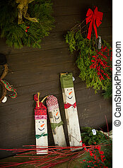 Christmas crafts - Hand made Christmas crafts, snowmen and...