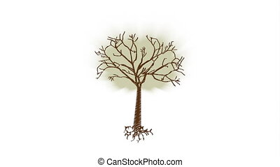 Ecology design with tree, Video Animation HD1080