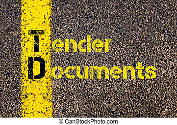 Accounting Business Acronym TD Tender Documents - Concept...