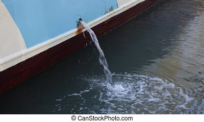 Ship Water Discharge - Ballast Water Discharge at Ship Side