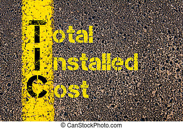 Accounting Business Acronym TIC Total Installed Cost -...