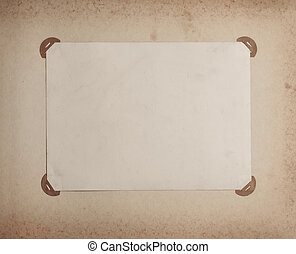 old-fashioned photo frame in vintage album toned photo -...