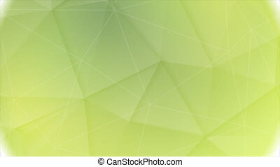 Bright green low poly circle video animation - Bright green...
