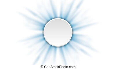 Blue rays animated background with blank circle. Video...