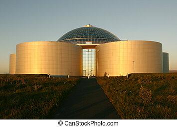 """Perlan in Reykjavik - Perlan or \""""The pearl\"""" at sunset...."""