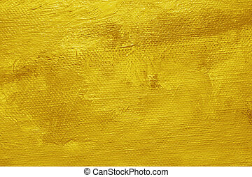 Yellow oil paint background - Close-up of a oil painted...