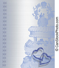 Wedding cake invitation - Image and illustration composition...