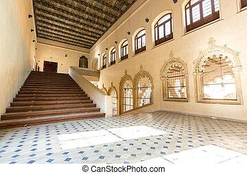 ZaragozaPalace Corridor - Corridor of aljaferia alcazar of...