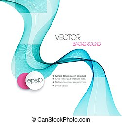 Abstract smoky waves background Template brochure design -...