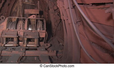 Scraper winch general view - Underground mine iron ore and...