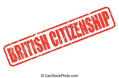 BRITISH CITIZENSHIP red stamp text on white