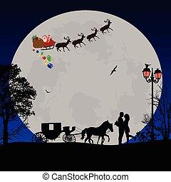 Holiday background illustration