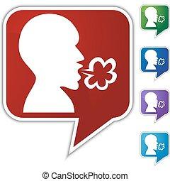 Illness Speech Balloon Icon Set
