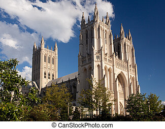 Side view of National Cathedral - Washington National...