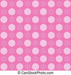 Winter Snow Flakes Background Pattern