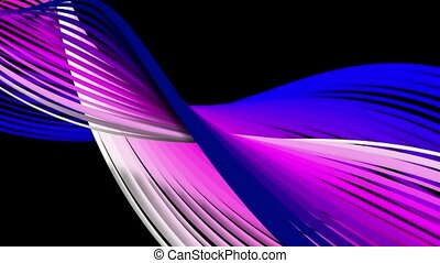 Abstract rotating spirals in purple,blue and white colors